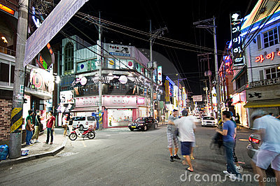 Iksan (South Korea) at night Editorial Photography