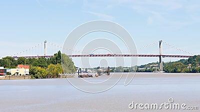 """Il birdge di Pont d """"l'Aquitania in Bordeaux video d archivio"""