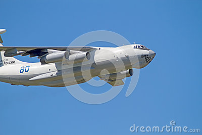 IL-76  in the blue sky Editorial Stock Image