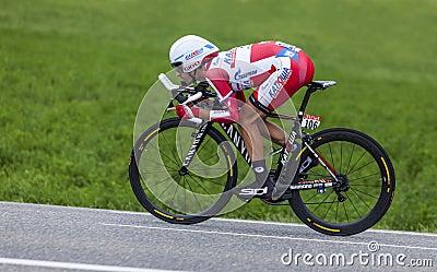 Il ciclista Daniel Moreno Fernandez Immagine Editoriale