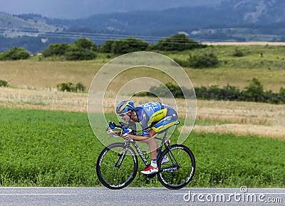 Il ciclista Michael Rogers Fotografia Editoriale
