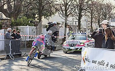 Il ciclista Petacchi Alessandro Parigi Nizza P 2013 Fotografia Editoriale