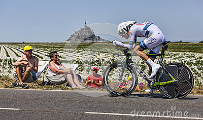 Il ciclista Tom Dumoulin Fotografia Editoriale