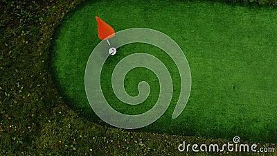 Il colpo da golf perfetto video d archivio