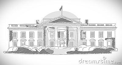 Il disegno disegnato a mano della casa bianca fotografia for Programma di disegno della casa libera