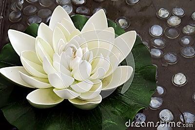 Il fiore di loto artificiale immagini stock immagine for Stagno artificiale giardino