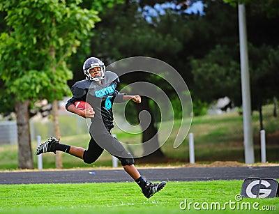 Il football americano della gioventù atterra Immagine Editoriale