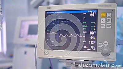 Il Monitor Del Ecg Dell'apparecchio Medico In Chirurgia..