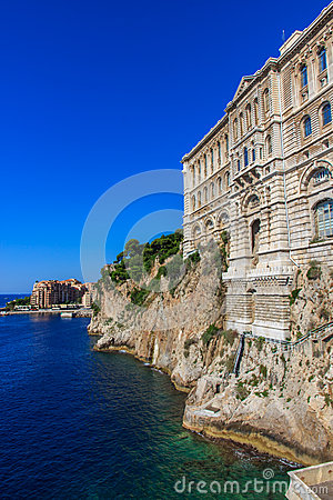 Il museo oceanografico nel Monaco-Ville, Monaco, Cote d Azur