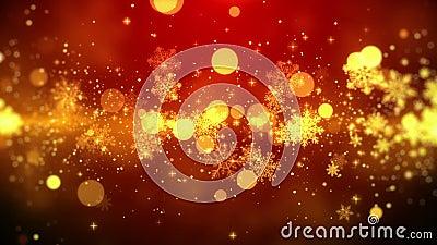 Il Natale fa segno a fondo al tema rosso, con le luci del fiocco di neve nel tema alla moda ed elegante, avvolto illustrazione di stock
