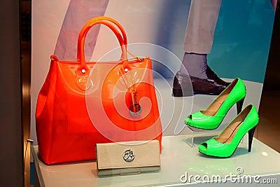 Handbag and shoe store Editorial Image