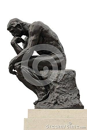 Il pensatore fotografia editoriale immagine 19705186 for Rodin scultore
