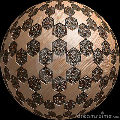 Il pianeta 3d della sfera stars la struttura