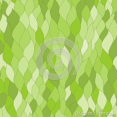 Il verde astratto copre di foglie struttura senza cuciture