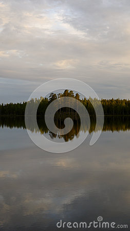 Free Iland In Tmorning.the Glassy Lake. Royalty Free Stock Images - 51338499