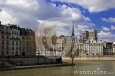 Ile de la Cite et cathédrale de Notre Dame, Paris