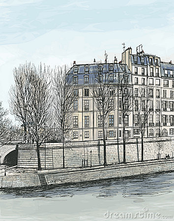 Ile Saint Louis in Paris