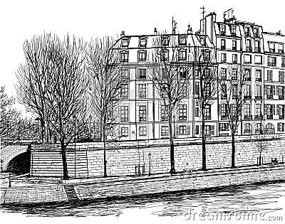 Ile St Louis em Paris