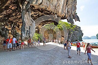 Ilha rochosa de James Bond Fotografia Editorial