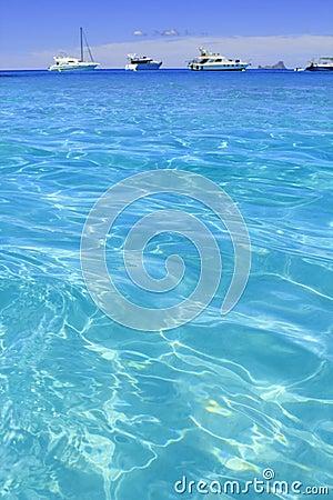 Illetes turquoise beach blue water Formentera