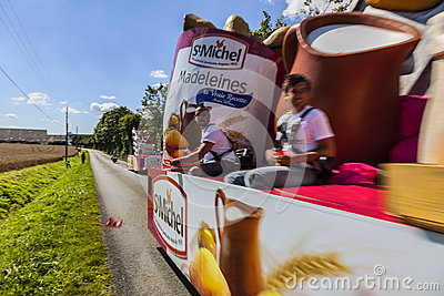 Publicity Caravan Action- Le Tour de France Editorial Stock Photo