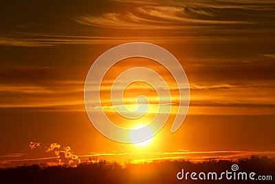 заход солнца illinois