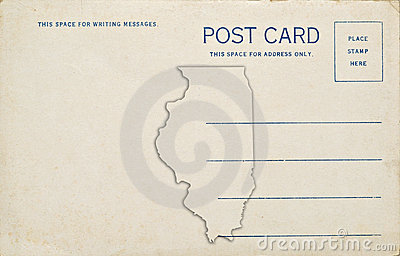 Illinois-Postkarte