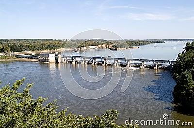 Illinois River Dam