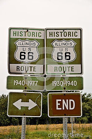Illinois Route 66 Signs