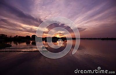 Illinois solnedgång