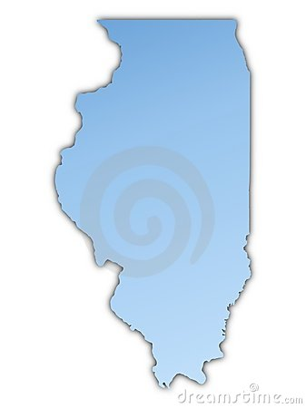 Illinois(USA) map