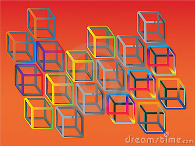 Illogical colorful cubes