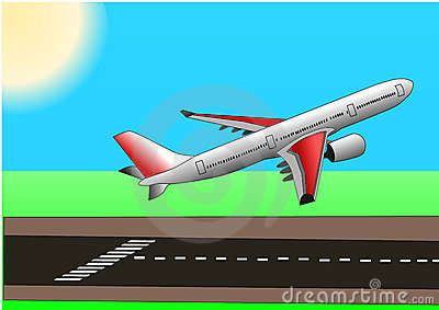 Illstration vector of plane or airbus taking off
