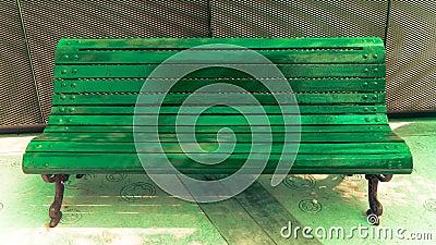 Illuminate Green Bench