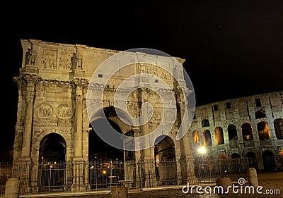 Illuminated Arch of Constantine