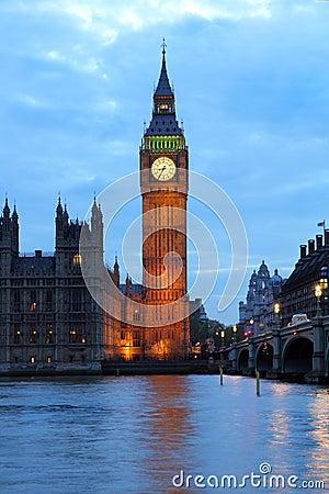 Illuminated Big Ben