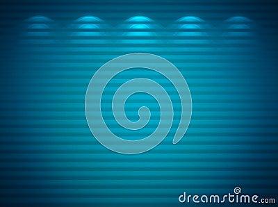Illuminated blue wall