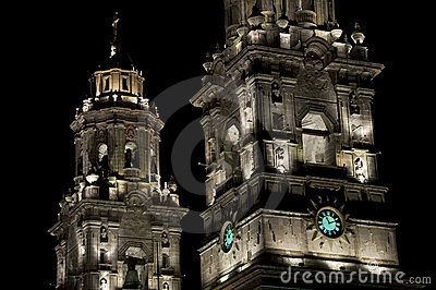 Illuminated Cathedral, Mexico