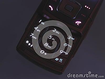 Illuminated cell phone keypad