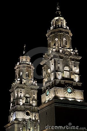 Illuminated church, Mexico