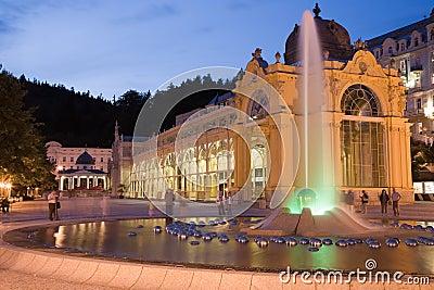 Illuminated colonnade