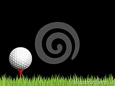 Illuminated golf scene