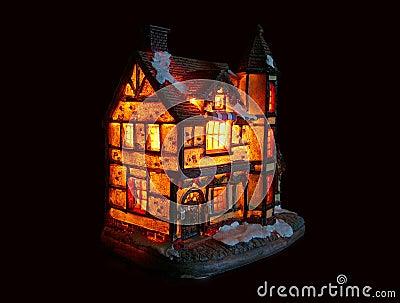 Illuminated house