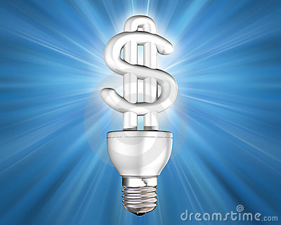 Illuminated money saving energy bulb