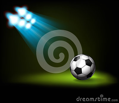Illuminated soccer ball