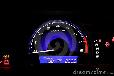 Illuminated speedometer