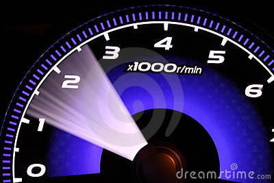 Illuminated speedometer
