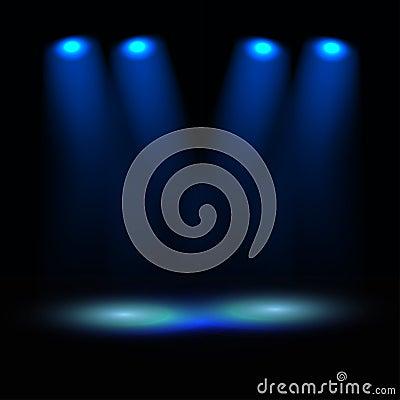 Illuminated stage illustration
