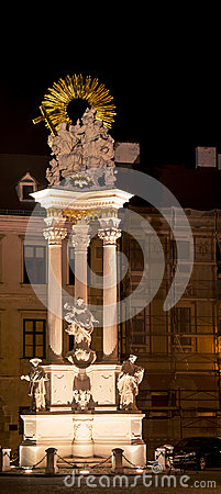 Free Illuminated Statue Of Nepomuk Stock Photo - 67716810