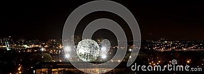 Illuminated Unisphere in Corona Park